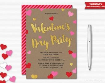 Valentine invite | Etsy