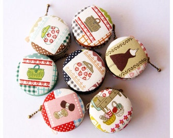 SALE 50% - 6.5cm Macaron Coin Purse / Mini Jewelry Box
