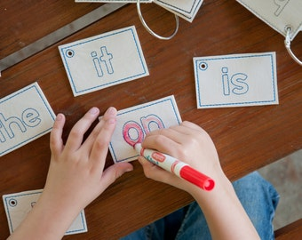 Dry erase sight word cards set 2 - set of 10 words - educational - preschool - learning - quiet time - sight words - learn to write