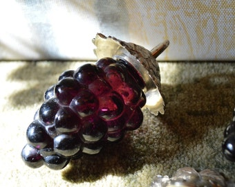Vintage Glass Grapes