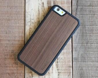 Wood iPhone 7 Plus Case, Walnut Wood iPhone 7 Plus Case, iPhone 7 Plus Wooden Case - SHK-W-I7P