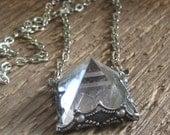 Custom Order for Marci Crystal Quartz Pyramid Pendant Necklace