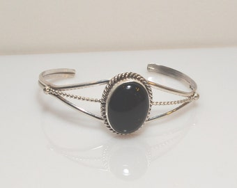 Onyx Bracelet, Sterling Silver Onyx Bracelet, Onyx Sterling SIlver Bracelet