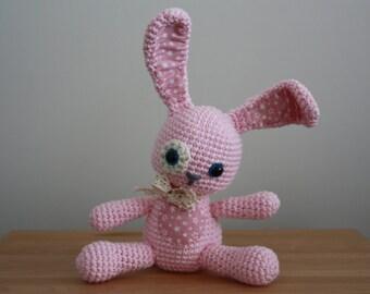 Soft cotton crochet bunny toy