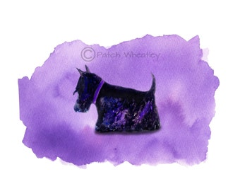 Scottie Dog Art Print Scottish Terrier #23