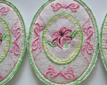 Embroidered Coasters,  Mug Rugs