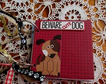 Dog Scrapbook Album, Embellished Mini Album