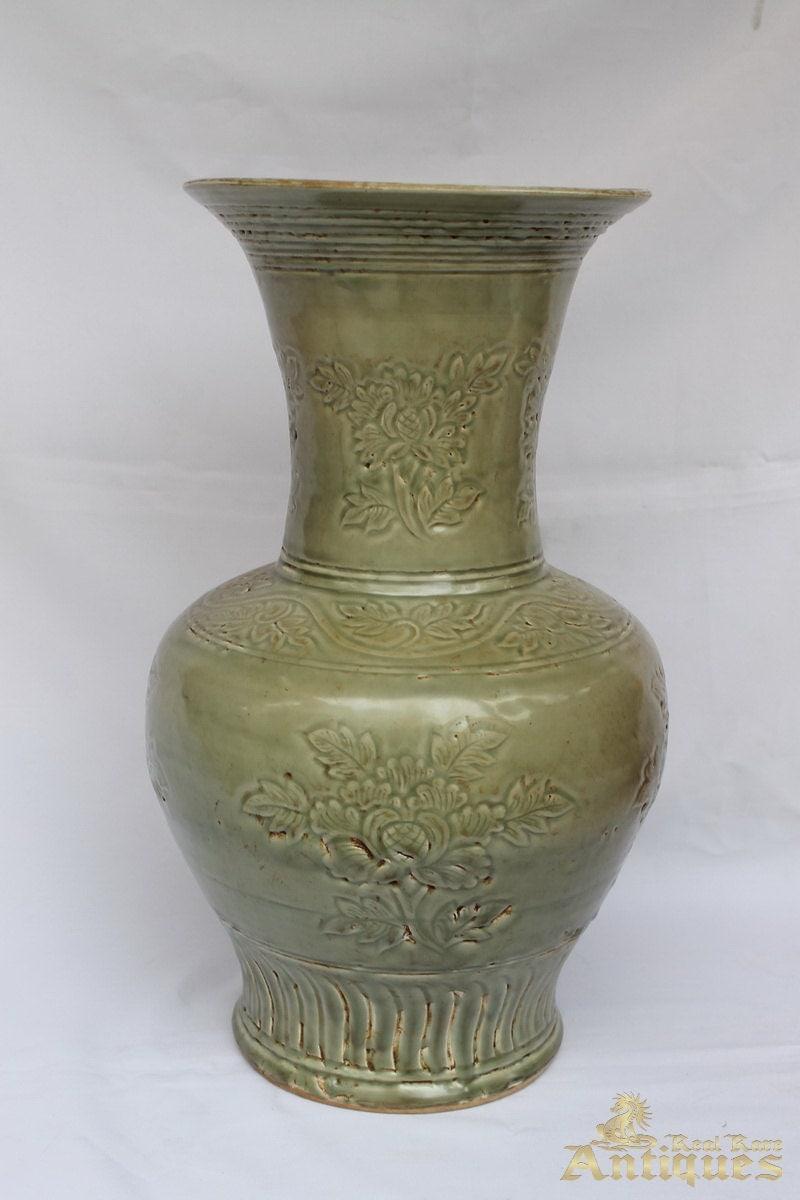 Antique Chinese Porcelain Vase Song Dynasty Celadon Glaze