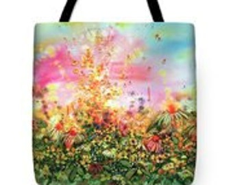 Flight of the Daisies Tote Bag
