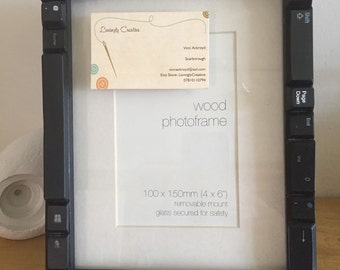 Upcyled keyboard picture frame