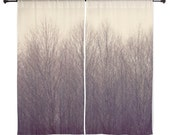 Sheer Curtains - Forest, Treescape, Home Decor, nature photography by RDelean Designs
