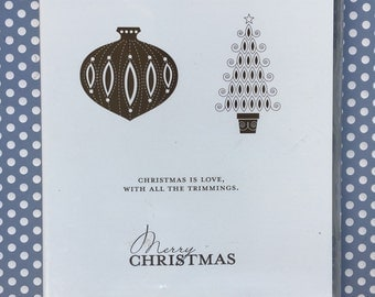 Stampin Up 'Contempo Christmas' Rubber Stamp Set