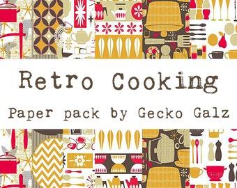 Retro Cooking Mini Paper Pack