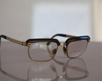 Vintage RODENSTOCK RICHARD eyewear, Gold Filled 12K Frame, Brown, Clear  Lenses RX Prescription . Very Rare Piece. Made in Germany