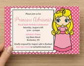 DIY Printable Princess Birthday Party Invitation, Princess Party, Printable Princess, Princess Invite, Customizable Colors