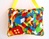 Lego Theme Tooth Fairy Pillow, Boys Hanging Pillow,   Boys Room Decor, Boys Playroom  Pillow, Personalied Pillow