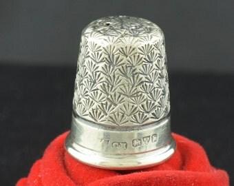 Sterling Silver Thimble Charles Horner Hallmark ~ Lot 255