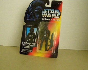 Star Wars Power of the Force 2 Tie Fighter Pilot 3 3/4 Inch Figure New In Package