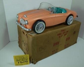 1960's Sears Mail-Away Irwin Barbie Austin Healey Roadster w/rare mailer box