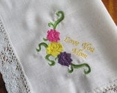 Embroidered Mom Handkerchief