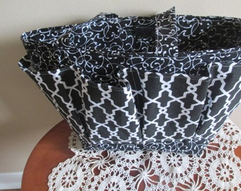 Black and WHite Bingo Bag, Craft Bag, Diaper Bag
