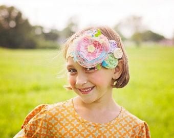 M2M Matilda Jane Secret Fields Fabric Flower Headband