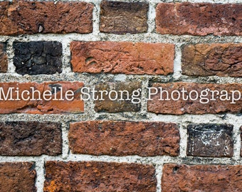 Red Brick Background, Brick Backdrop, Scrapbooking, Orange and Red Bricks, Craft Projects, Instant Download, Stock Photography, Photo Prop