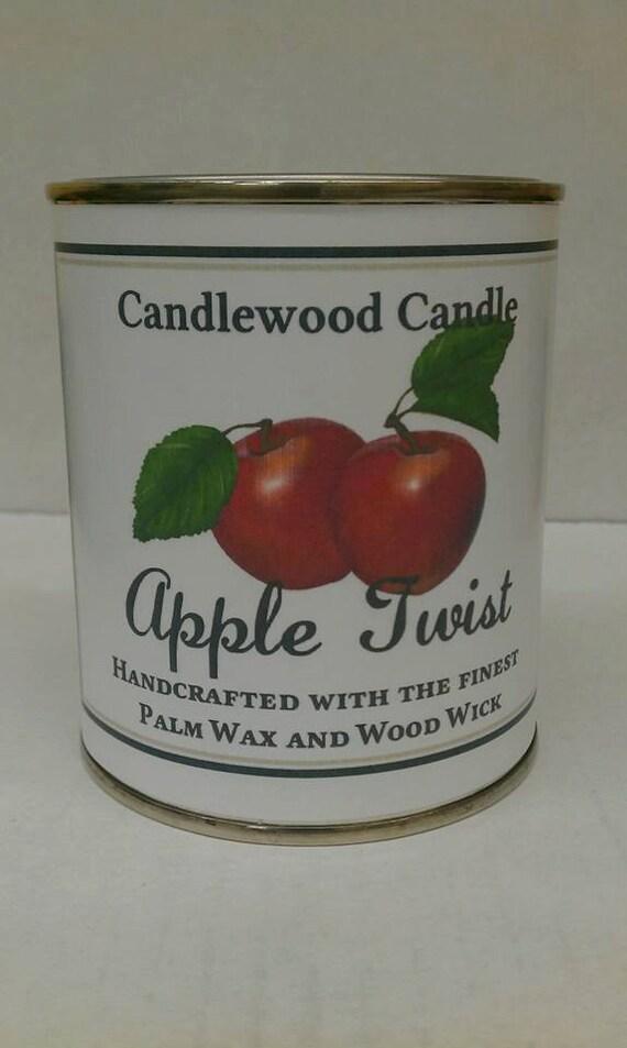 APPLE TWIST   - Genuine Apple Twist Wood Wick Candle 16 oz