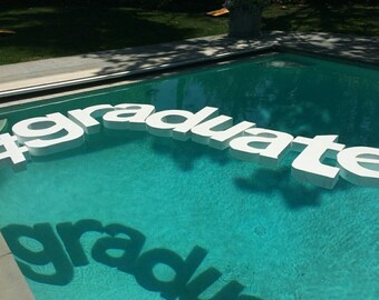 floating pool letters wedding monograms wedding day decor pool decor outdoor party - Pool Decorations