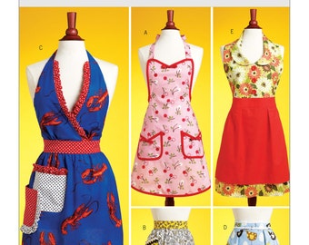Butterick B5474 Misses' Vintage Style Aprons Sewing Pattern