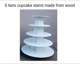 5 tiers cupcake stand