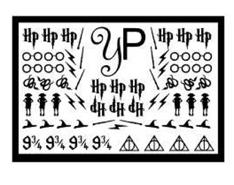 Wizard Inspired Nail Decals - 65