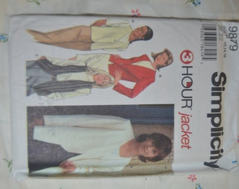 Simplicity 9879 Misses Lined Jackets and  Vests  - UNCUT sewing Pattern - Sizes  12 14 16