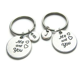 Couples Personalized Keychains, Boyfriend Girlfriend Keychains, Couples Keychains, BF GF Keychains, Personalized Keychains, Monogram