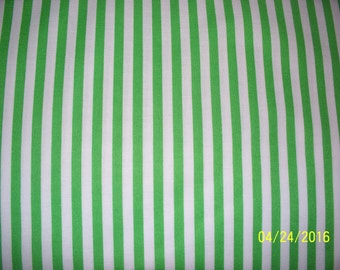 Apple Green Stripe Fabric