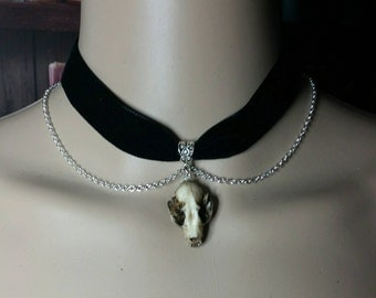 Natural Resin Cast Bat Skull Choker