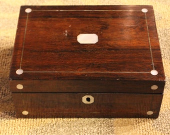 Vintage Victorian Rosewood Jewelry Box