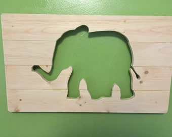 Elephant Wooden Wall Art