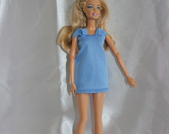 Blue dress for Barbie doll