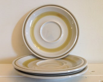 Vintage Sunny Stone Green Pebble Saucer, Sunny Stone Stoneware Cup Saucer, Green Pebble Saucer Replacement