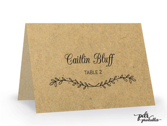printable place card template editable wedding escort cards