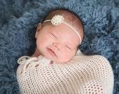 baby headband, newborn headband, pearl headband, baby girl headband, vintage headband, rhinestone headband, baptism headband, wedding head