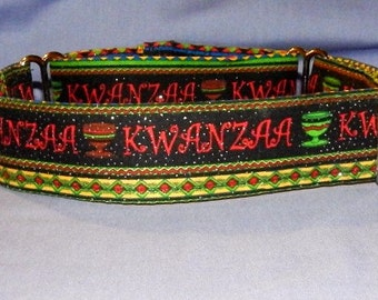 Kwanzaa Dog collar