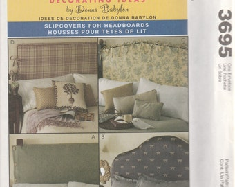 McCall's 3695 Decorating Ideas by Donna Babylon Slipcovers For Headboards Sewing Pattern 2002 Uncut