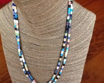 Multicolored porcelain beaded necklace