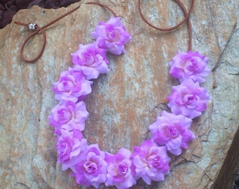 Two shades of purple (purple lavender) roses flower halo