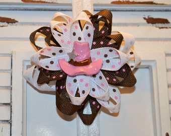 Pink Cowgirl Hat Bow
