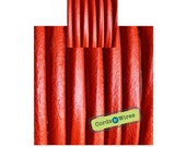 CW06202 - Red - 0.40 meters x 6mm Round Leather Cord
