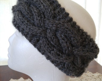 Cabled Knit Head Band