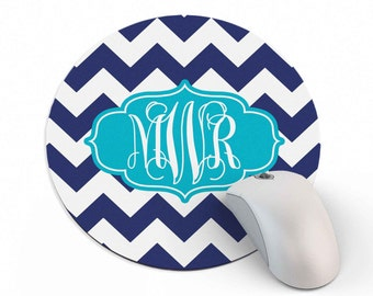 Monogram Mouse Pad - Monogrammed Mousepad - Personalized Gift